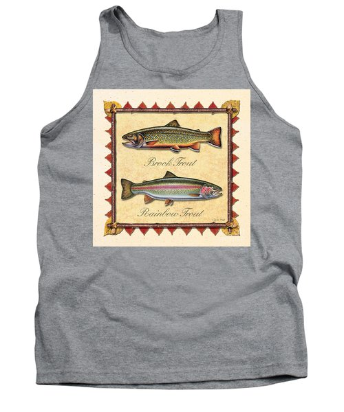 Brook And Rainbow Trout Creme Tank Top