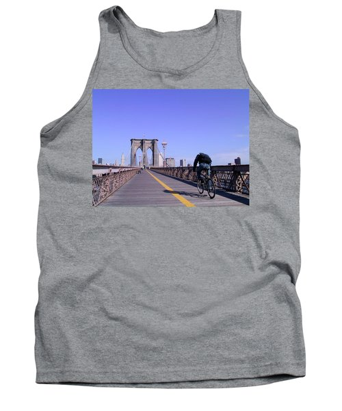 Brooklyn Bridge Bicyclist Tank Top