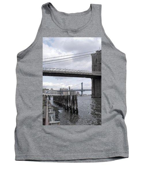 Brooklyn Bridge II Tank Top by Henri Irizarri