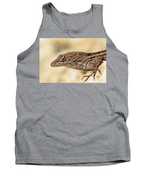 Tank Top featuring the photograph Brown Anole by Doris Potter