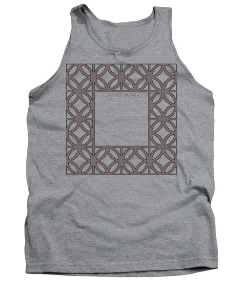 Tank Top featuring the digital art Brown Circles And Squares by Chuck Staley