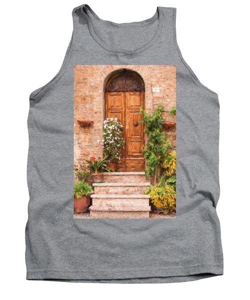 Brown Door Of Tuscany Tank Top