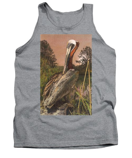 Brown Pelican Tank Top