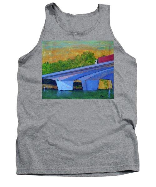 Tank Top featuring the painting Brunswick River Bridge by Paul McKey