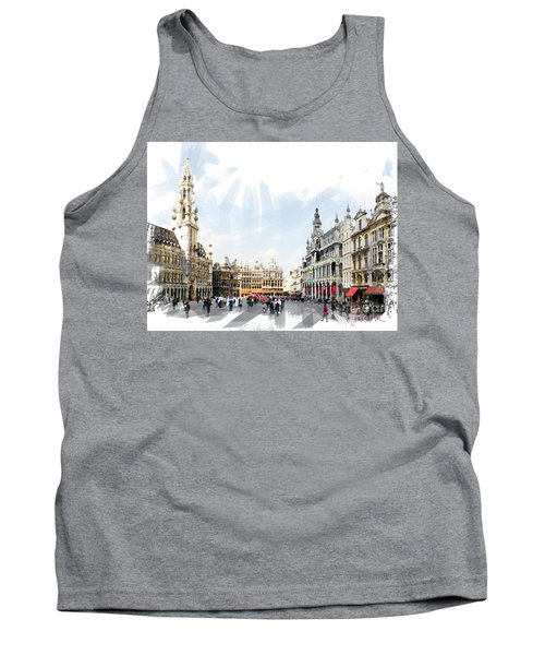Brussels Grote Markt  Tank Top by Tom Cameron