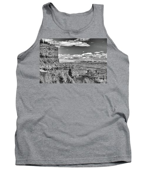 Bryce Canyon In Black And White Tank Top