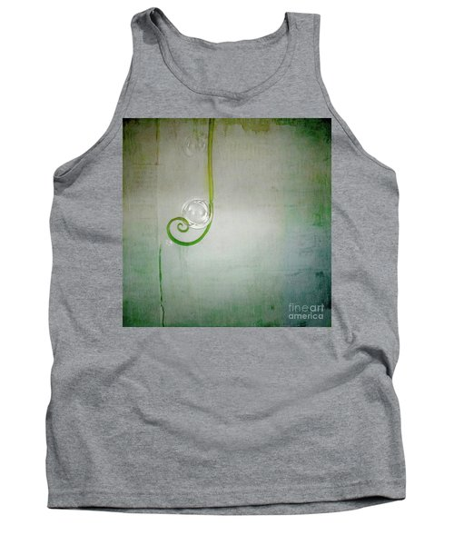 Tank Top featuring the digital art Bubbling -  S24aabbcc by Variance Collections