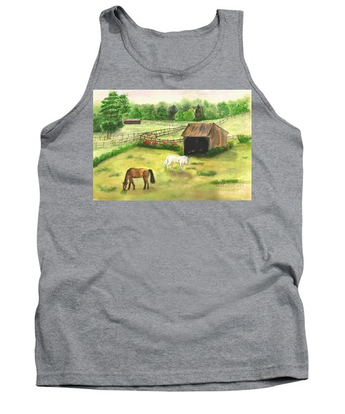 Bucks County Horse Farm Tank Top by Lucia Grilletto
