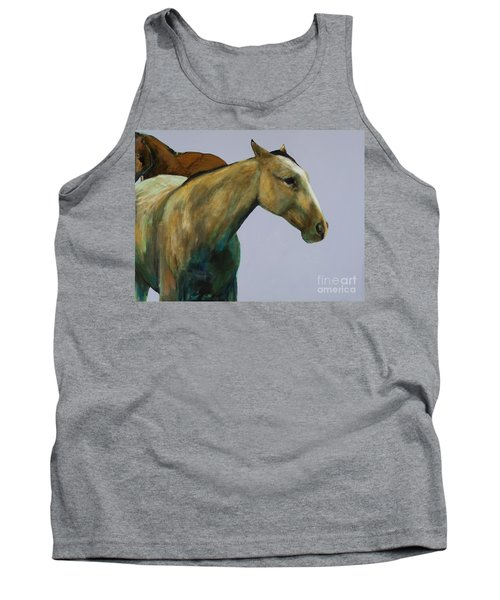 Tank Top featuring the painting Buckskin by Frances Marino