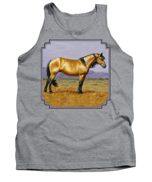 Buckskin Mustang Stallion Tank Top by Crista Forest
