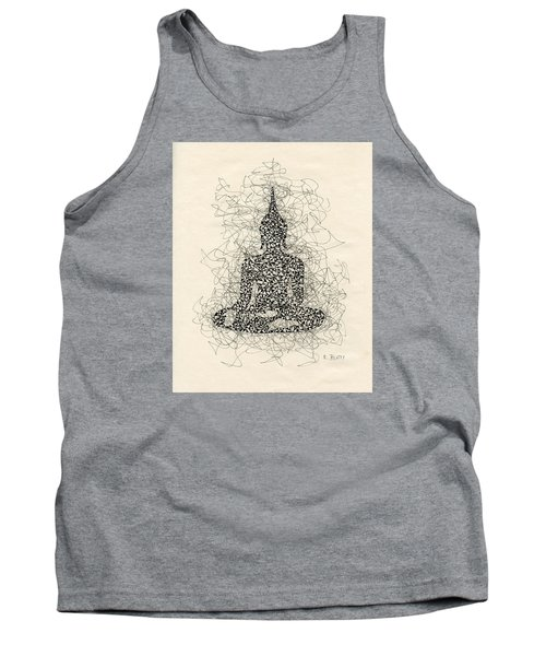 Buddha Pen And Ink Drawing Tank Top