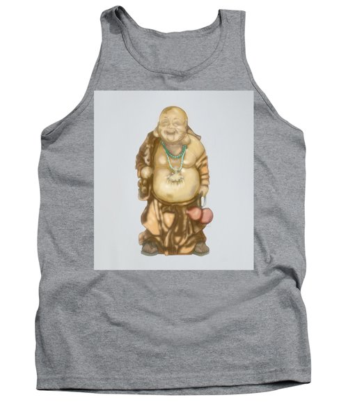 Tank Top featuring the mixed media Buddha by TortureLord Art