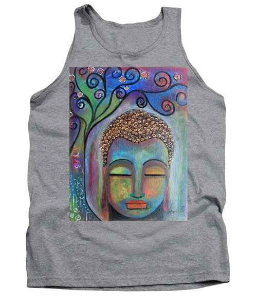 Buddha With Tree Of Life Tank Top by Prerna Poojara