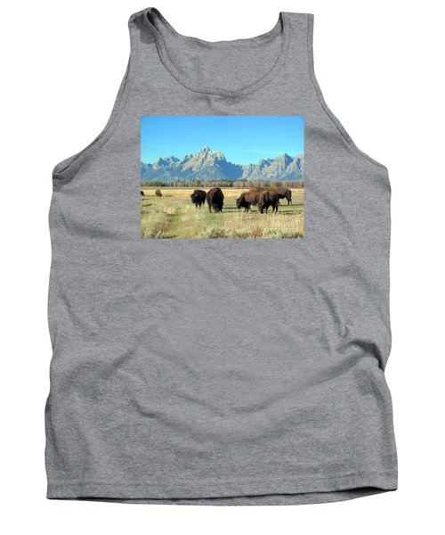 Tank Top featuring the photograph Buffallo  by Irina Hays