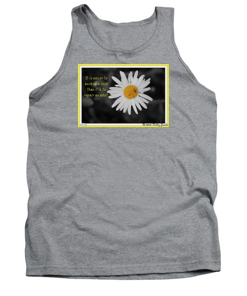 Tank Top featuring the digital art Build A Child Up by Holley Jacobs