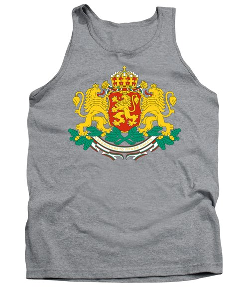 Tank Top featuring the drawing Bulgaria Coat Of Arms by Movie Poster Prints