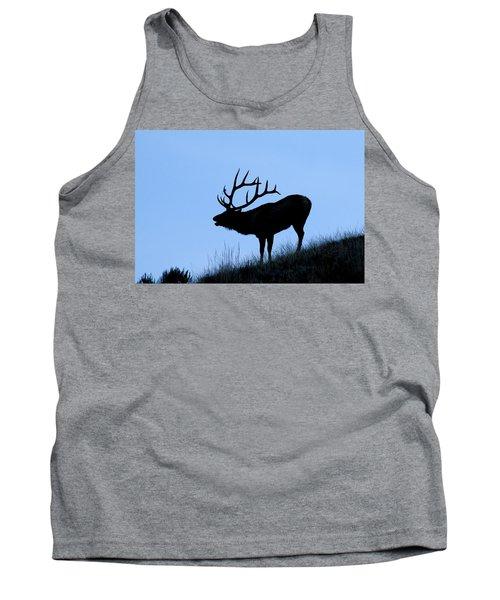 Bull Elk Silhouette Tank Top