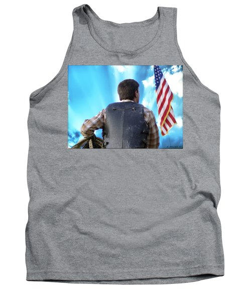 Tank Top featuring the photograph Bull Rider by Brian Wallace