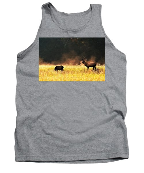 Bull With His Girl Tank Top