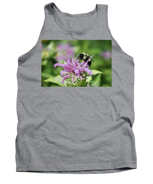 Bumblebee On Bee Balm Tank Top