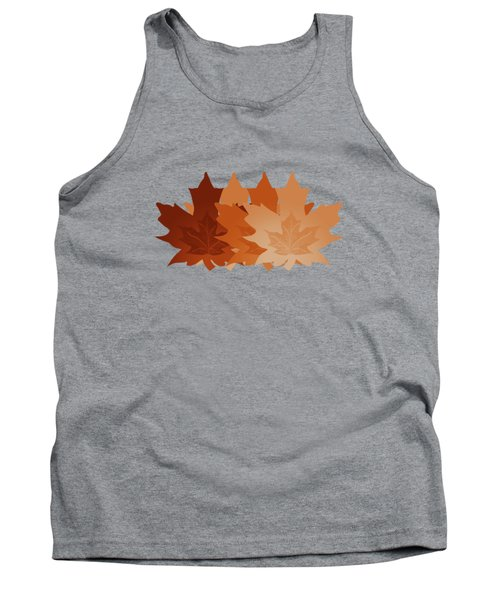 Tank Top featuring the digital art Burnt Sienna Autumn Leaves by Methune Hively