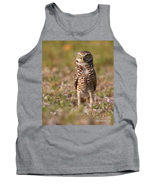 Burrowing Owl Standing Tall Tank Top by Myrna Bradshaw