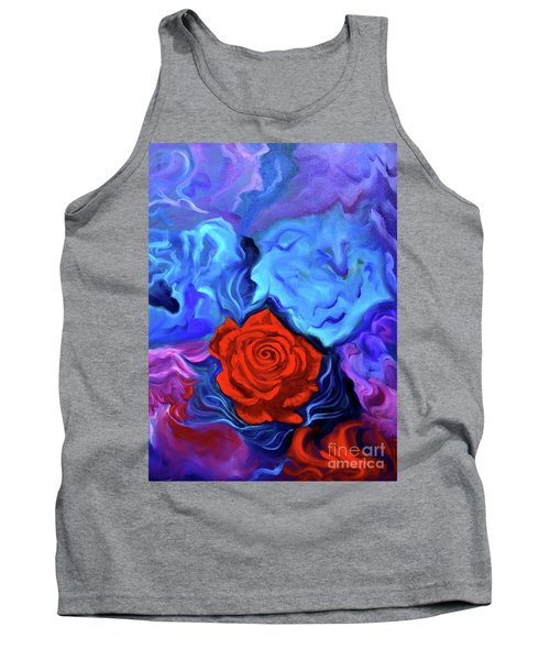 Bursting Rose Tank Top by Jenny Lee