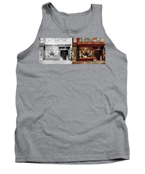 Butcher - Meat Priced Right 1916 - Side By Side Tank Top by Mike Savad