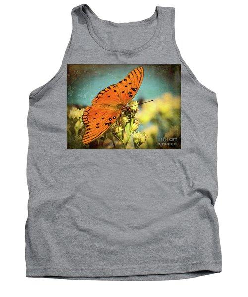 Butterfly Enjoying The Nectar Tank Top