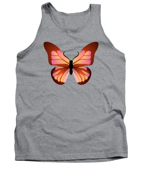 Butterfly Graphic Pink And Orange Tank Top