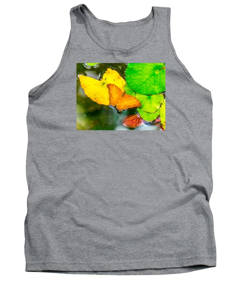 Butterfly On Lilies Tank Top