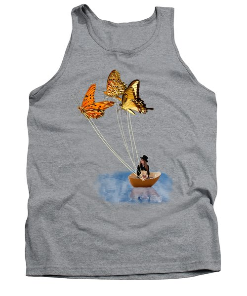 Butterfly Sailing Tank Top by Linda Lees