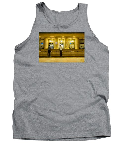 Tank Top featuring the photograph Buying A Ticket by M G Whittingham