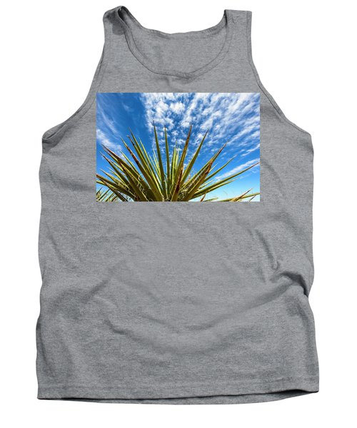 Cactus And Blue Sky Tank Top by Amyn Nasser