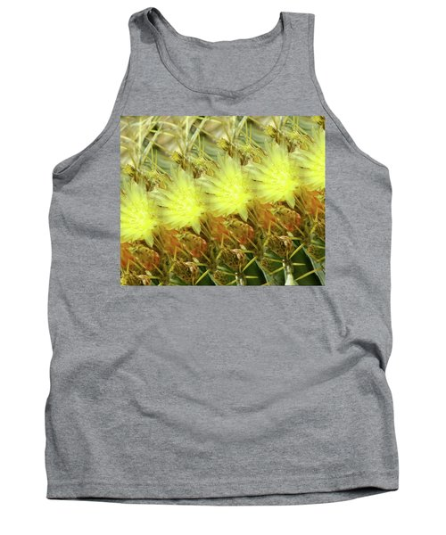 Cactus Flowers Tank Top by Kathy Bassett