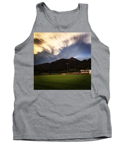 Tank Top featuring the photograph Cadet Soccer Stadium by Christin Brodie