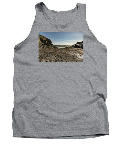 Tank Top featuring the photograph Cadgwith Cove Beach by Brian Roscorla