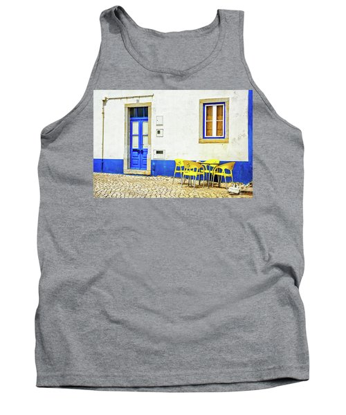 Tank Top featuring the photograph Cafe In Portugal by Marion McCristall