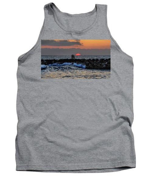 California Evening With Sandstone Effect Tank Top