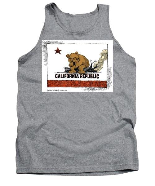 California Fire Bear Grieves Tank Top