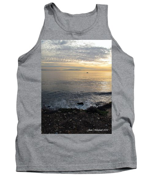 Tank Top featuring the photograph California Sunset by Joan  Minchak