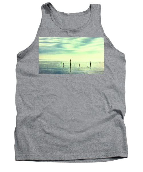 Tank Top featuring the photograph Calm Bayshore Morning N0 1 by Gary Slawsky