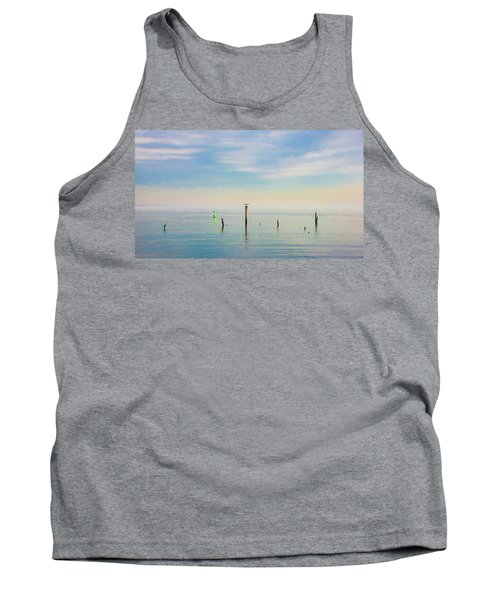 Tank Top featuring the photograph Calm Bayshore Morning N0 2 by Gary Slawsky