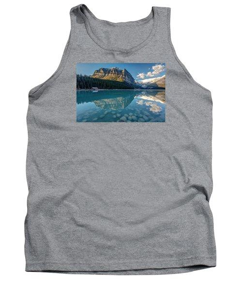 Calm Lake Louise Reflection Tank Top by Pierre Leclerc Photography