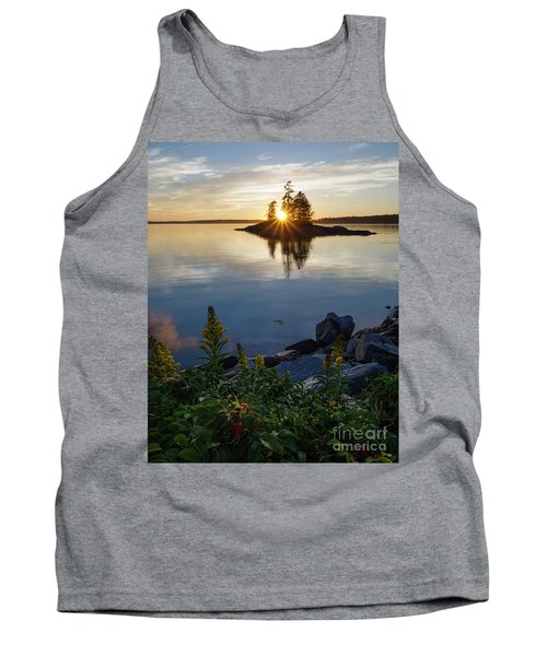 Calm Water At Sunset, Harpswell, Maine -99056-99058 Tank Top by John Bald