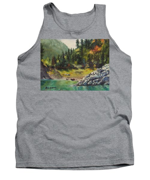 Camping On The Lake Shore Tank Top