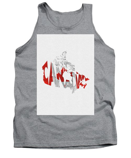Canada Typographic Map Flag Tank Top
