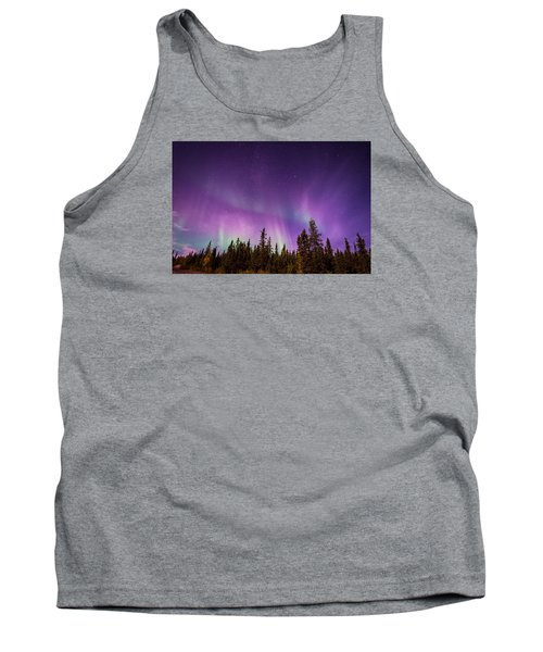 Tank Top featuring the photograph Canadian Northern Lights by Serge Skiba