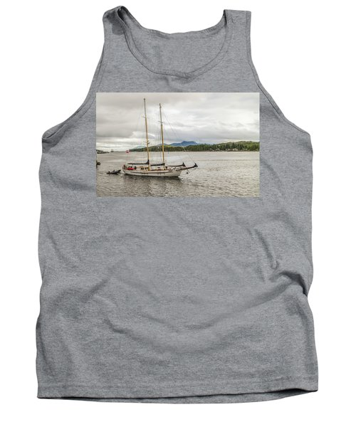 Tank Top featuring the photograph Canadian Sailing Schooner by Timothy Latta