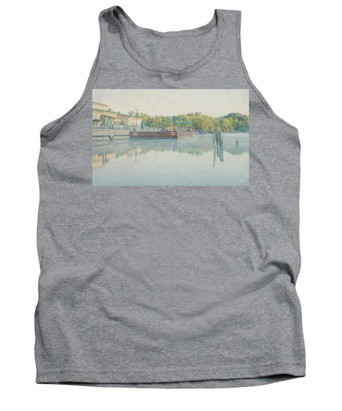 Tank Top featuring the photograph Canal In Pastels by Everet Regal